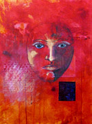 Youthful Painting Metal Prints - Be Golden Metal Print by Nancy Merkle