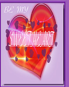 Hearts Devotion Prints - Be My Sweetheart Print by Debra     Vatalaro