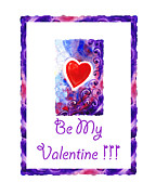 Red Heart Paintings - Be My Valentine by Irina Sztukowski