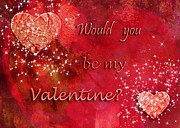Engagement Digital Art Prints - Be My Valentine Print by Paula Ayers