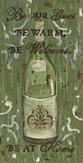Vintage Wine Posters - Be Our Guest Poster by Debbie DeWitt