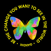 Ginny Gaura - Be the Change - Butterfly in Circle