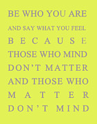 Motivating Posters - Be who you are Poster by Georgia Fowler