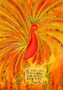 Affirmation Painting Prints - Be Who You Really Are Print by Sally Simmons
