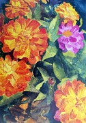 Zinnia Paintings - Be Zinnia Later by Todd Derr