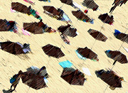 Umbrellas Digital Art - Beach 2 by Bruce Iorio