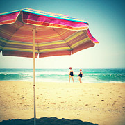 Sunshade Posters - Beach 3 Poster by Neil Overy