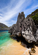 El-nido Posters - Beach and rocks  Poster by Fototrav Print