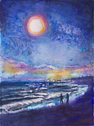 Hold Originals - Beach at Night by Patricia Allingham Carlson
