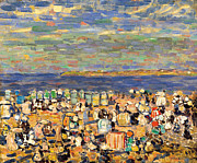 Famous Artists - Beach at St Malo by Maurice Brazil Prendergast