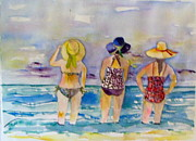Topsail Island Paintings - Beach Babes by Anne McMath