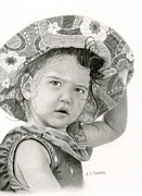 Photo Realism Drawings - Beach Baby by Sarah Batalka