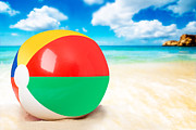 Inflatable Photo Framed Prints - Beach Ball Framed Print by Christopher and Amanda Elwell