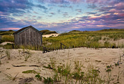New England Ocean Framed Prints - Beach Barn Framed Print by Bill  Wakeley