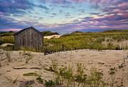 Beach Barn Print by Bill  Wakeley