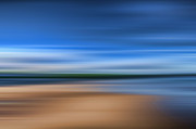 Steve Purnell Photo Metal Prints - Beach Blur Metal Print by Steve Purnell