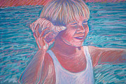Fun Pastels Posters - Beach Boy Poster by Audrey Peaty