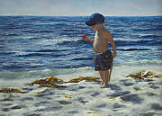 Bat Boy Paintings - Beach Boy by Jeanette French