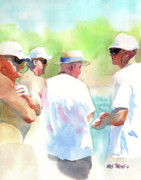 Sun Hats Prints - Beach Boys Print by Kris Parins
