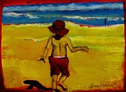 Beach Scenes Mixed Media - Beach Brothers 2 by Grace Liberator