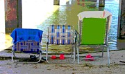 Under The Ocean Prints - Beach Chairs Print by Jeanne Forsythe