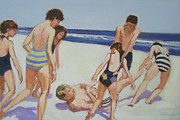 J Reifsnyder Prints - Beach commission Print by J Reifsnyder