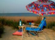 Beach Cooler Print by Bob Swanson