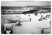 Monotone Prints - Beach Day at OC Print by John Rizzuto