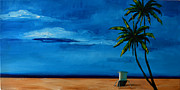 Florida House Paintings - Beach Day II by Patricia Awapara