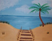 Sand Dunes Paintings - Beach Day by Krystal Jost