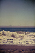 Horizon Digital Art Metal Prints - Beach Days Metal Print by Laurie Search