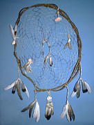 Catcher Tapestries - Textiles - Beach Dream Catcher by Michelle White