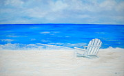Lounge Chair Posters - Beach Escape Poster by Debi Pople