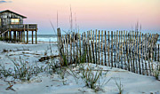 Lynn Jordan - Beach Fence at Dusk