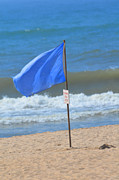 Clean Ocean Prints - BEach Flag Blues Print by Adspice Studios