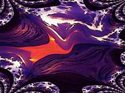 Lee Farley Prints - Beach Fractal Print by Lee Farley