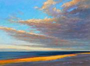 Cape Cod Pastels Prints - Beach Front Print by Ed Chesnovitch