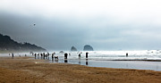 Oregon Photography Framed Prints - Beach Fun at Ecola  Framed Print by Robert Bales