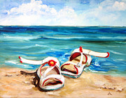 Diane Kraudelt Art - Beach Fun by Diane Kraudelt