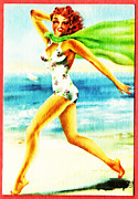 Beach Digital Art - Beach Girl by Digital Reproductions