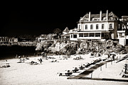 Lounges Framed Prints - Beach Goers in Cascais Framed Print by John Rizzuto