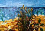 Buonarroti Painting Metal Prints - Beach Grass Evanston Beaches Metal Print by Gregory Allen Page