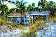 Florida House Photo Prints - Beach House Print by Debbi Granruth