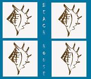 Kate Farrant - Beach House Shells sign