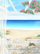 Beach House Print by Veronica Minozzi