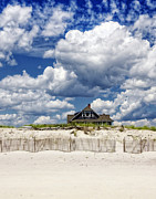 Bluesky Metal Prints - Beach House Metal Print by Vicki Jauron