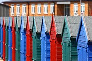 Sussex Framed Prints - Beach Huts 1 Framed Print by James Brunker