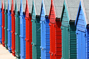 Sussex Framed Prints - Beach Huts 2 Framed Print by James Brunker
