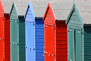 Sussex Framed Prints - Beach Huts 3 Framed Print by James Brunker