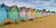 Beach Huts Framed Prints - Beach huts Framed Print by Gary Eason